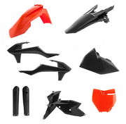 16-18 KTM BLACK/ ORANGE FULL PLASTIC KIT - ACERBIS