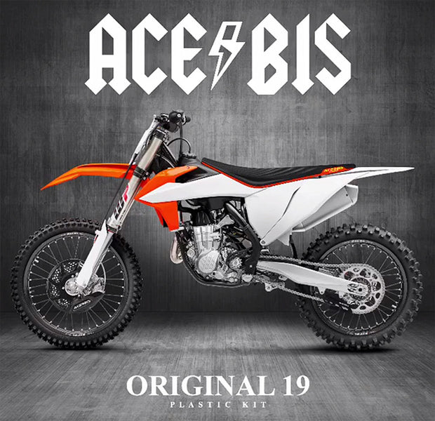 19-21 KTM OEM WHITE / ORANGE FULL PLASTIC KIT - ACERBIS