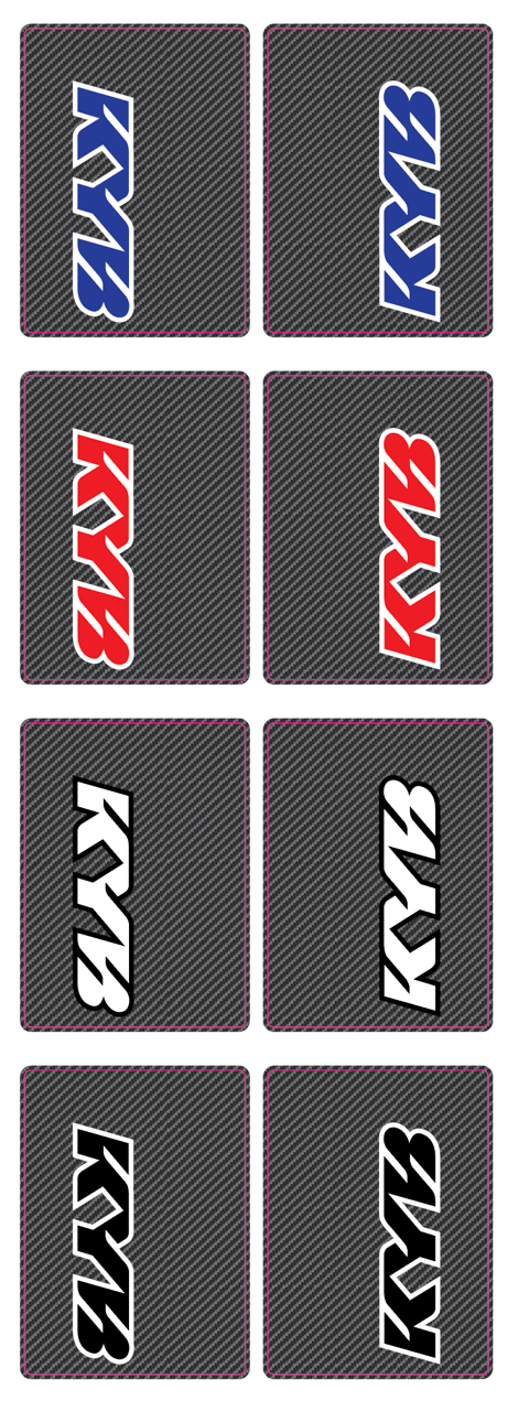 KYB Fork Tube Decals - CARBON FIBER