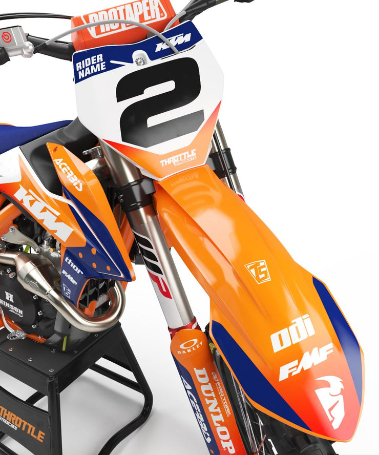 KTM D1 GRAPHIC KIT - ORANGE / BLUE
