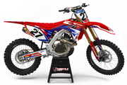 HONDA FLUSH GRAPHIC KIT - RED / BLUE