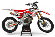 HONDA FLUSH GRAPHIC KIT - WHITE / RED