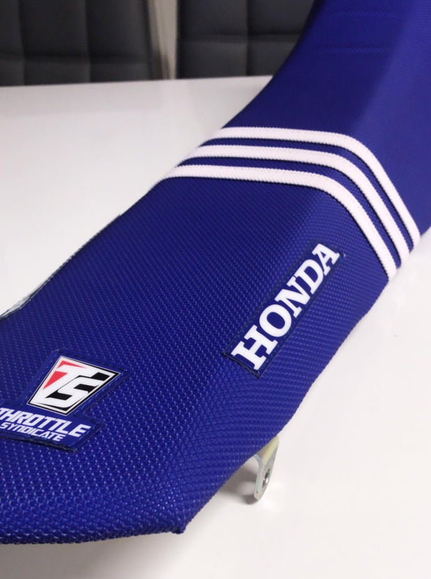 HONDA 3 RIB FACTORY ISSUE SEAT COVER - BLUE