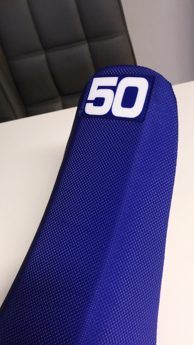 HUSQVARNA 3 RIB FACTORY ISSUE SEAT COVER- CUSTOM COLORS