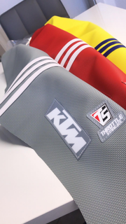 KTM TLD FACTORY ISSUE SEAT COVER- CUSTOM COLORS