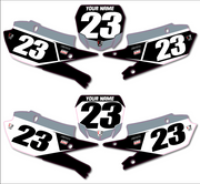 YAMAHA CUSTOM NUMBER PLATE BACKGROUNDS - GRAY