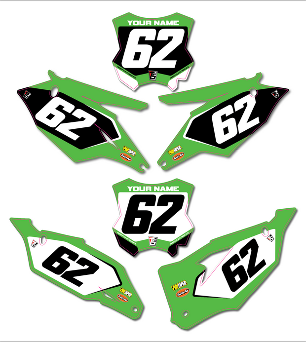 KAWASAKI CUSTOM NUMBER PLATE BACKGROUNDS