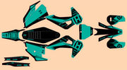 HUSQVARNA FRONTLINE GRAPHIC KIT - TEAL