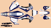 HUSQVARNA FRONTLINE GRAPHIC KIT - NAVY