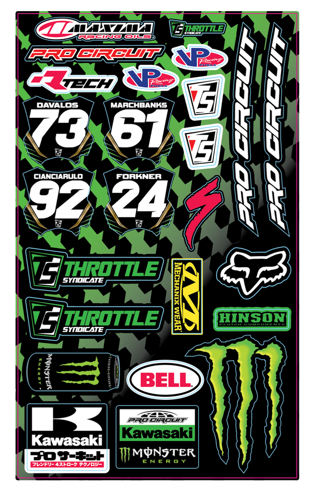 PRO CIRCUIT TEAM UNIVERSAL DECAL SHEET