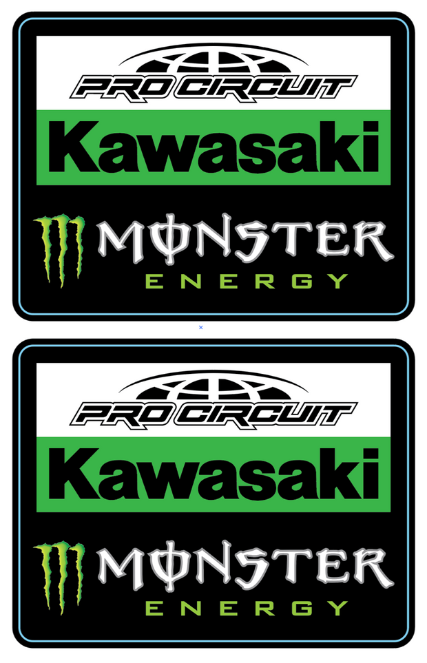 PRO CIRCUIT TEAM BADGE DECALS