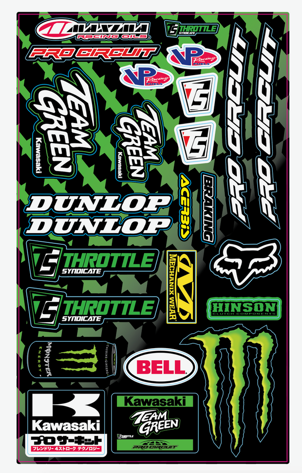 TEAM GREEN UNIVERSAL DECAL SHEET V.1