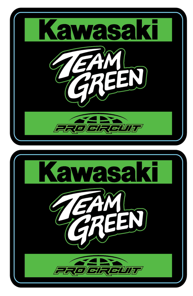 TEAM GREEN TEAM BADGE DECALS