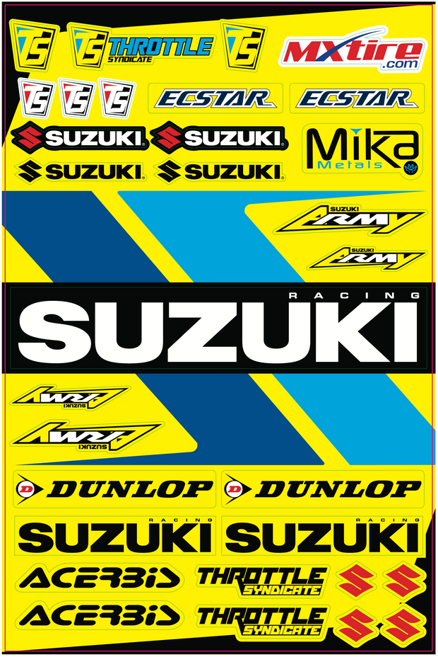 SUZUKI LOGO DECAL SHEET
