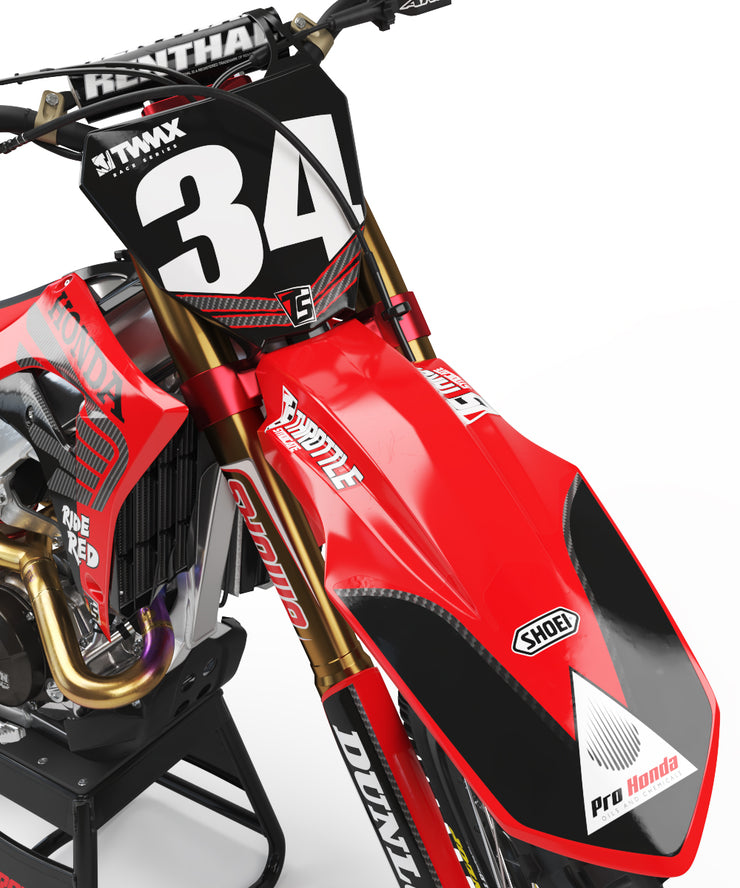 NO WING NO PRAYER - RED / CARBON WING