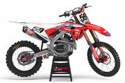 HONDA STRIKE GRAPHIC KIT - RED / WHITE
