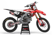 HONDA PODIUM GRAPHIC KIT - RED / BLACK