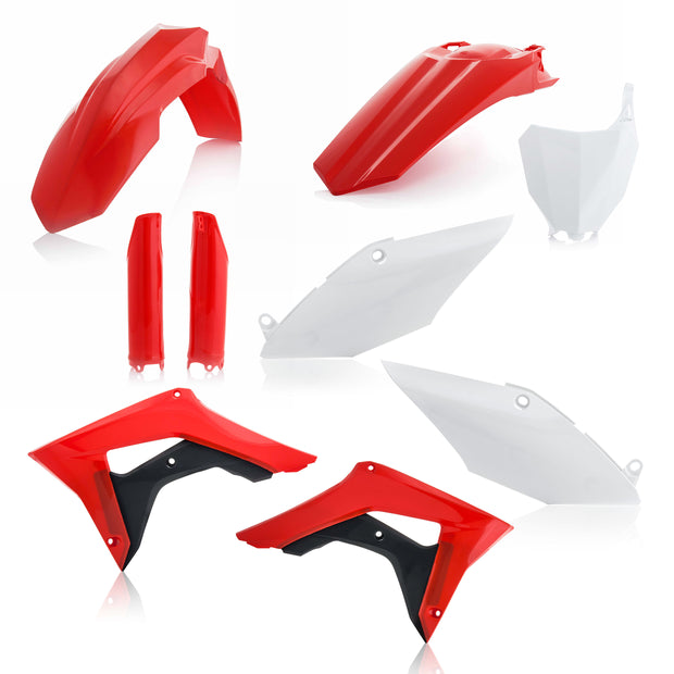 18 CRF250R/ 17-18 CRF450R OEM RED / WHITE FULL PLASTIC KIT - ACERBIS