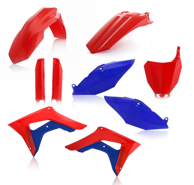 18 CRF250R/ 17-18 CRF450R RED / BLUE FULL PLASTIC KIT - ACERBIS