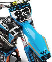 HUSQVARNA CHECKERS GRAPHIC KIT - LIGHT BLUE