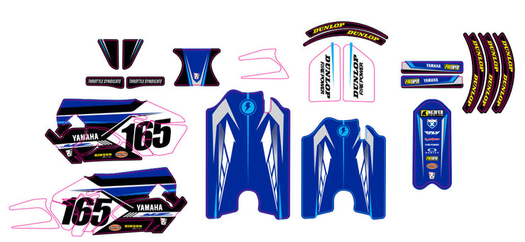 STACYC YAMAHA CUSTOM GRAPHIC KIT