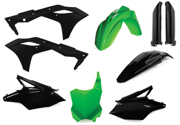 17-20 KAWASAKI KX 250F BLACK / GREEN FULL PLASTIC KIT - ACERBIS