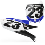 YAMAHA CUSTOM NUMBER PLATE BACKGROUNDS - BLUE