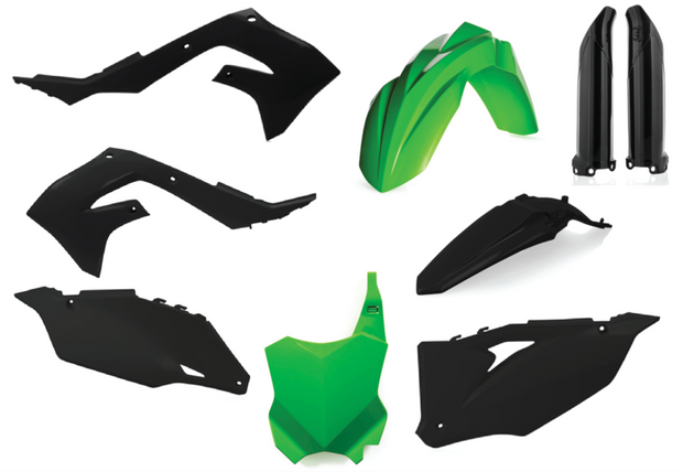 19-20 KAWASAKI KX 450F BLACK / GREEN FULL PLASTIC KIT - ACERBIS