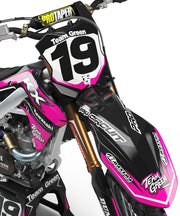 KAWASAKI FRONTLINE GRAPHIC KIT - PINK