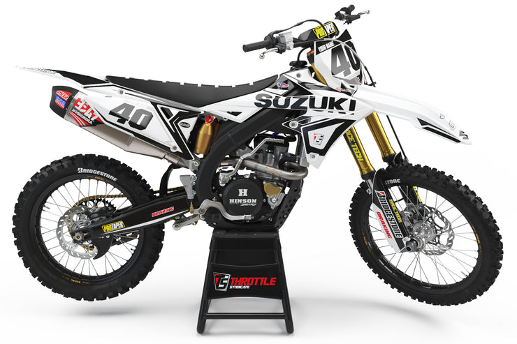 SUZUKI TS GRAPHIC KIT - WHITE