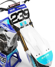 YAMAHA FLAG GRAPHIC KIT - BLUE