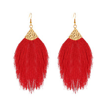 Load image into Gallery viewer, Boho Feather Dangle Earrings