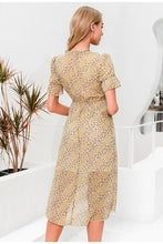 Load image into Gallery viewer, Floral Print High Waist Dress
