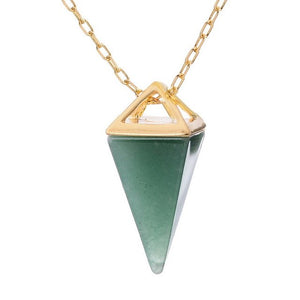 Pyramid Healing Crystal Necklace