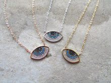 Load image into Gallery viewer, Turkish Evil Eye Pendant Necklace