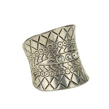 Load image into Gallery viewer, Antique Silver Plated Boho Ring