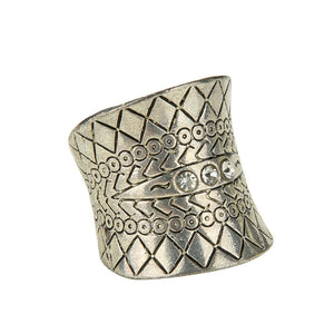 Antique Silver Plated Boho Ring