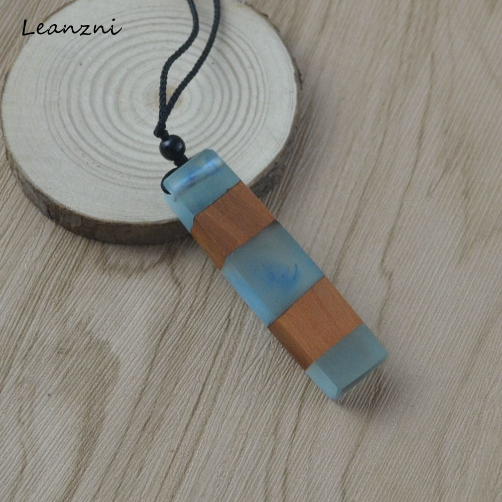 Wood + Resin Rope Necklace