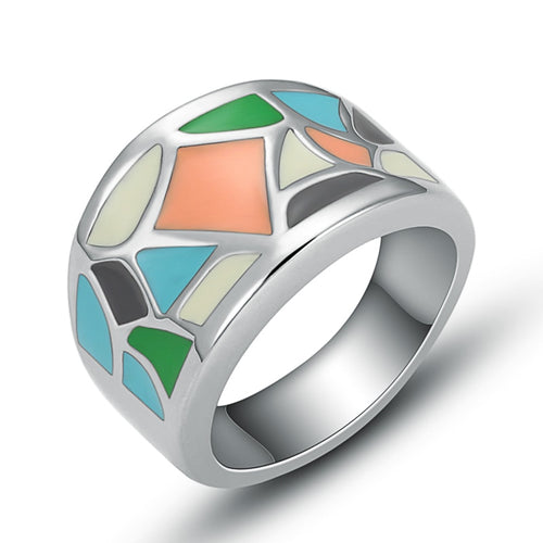 Stainless Steel Multi-Color Ring