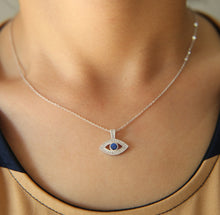 Load image into Gallery viewer, Small Turkish Evil Eye Pendant Necklace