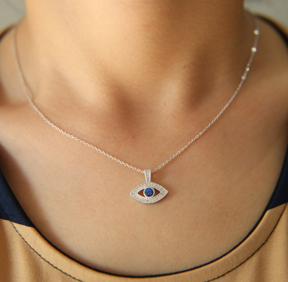 Small Turkish Evil Eye Pendant Necklace