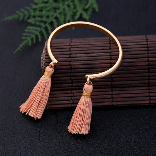 Handcrafted Tassel Bangle