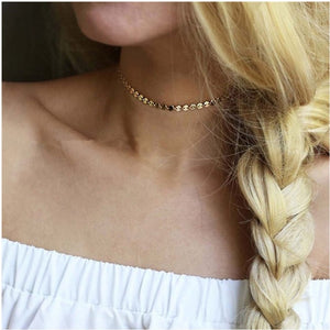 Coin Choker Necklace