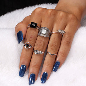 6 Piece Mid Knuckle Ring Set