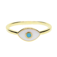 Load image into Gallery viewer, Turkish Evil Eye Ring