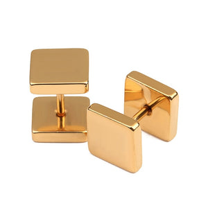 Stainless Steel Square Shaped Stud Earrings