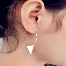 Load image into Gallery viewer, Geometric Copper Triangle Earrings
