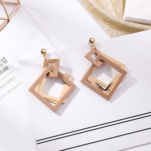 Acrylic Square Drop Earrings
