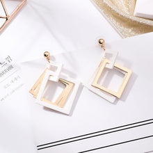 Load image into Gallery viewer, Acrylic Square Drop Earrings