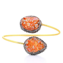 Load image into Gallery viewer, Crystal Chakra Healing Stone Bangle